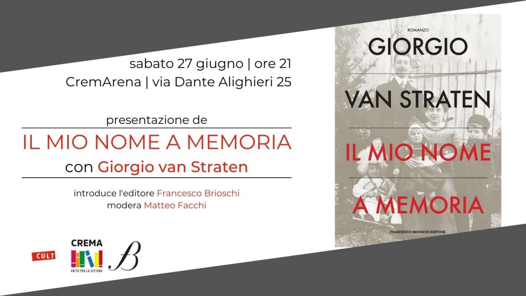 Giorgio van Straten presenta Il mio nome a memoria