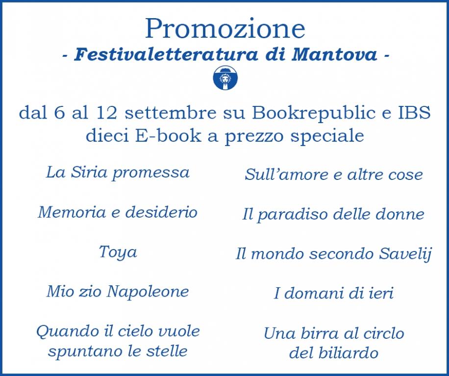 Promozione E-book - Festivaletteratura di Mantova -